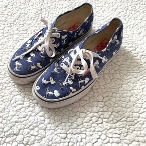 Vans Off The Wall Peanuts Snoopy Blue Sneakers